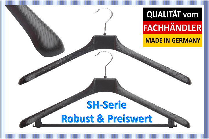 Garderobenb/ügel TW24 50 Kleiderb/ügel Kleiderb/ügel mit Hosensteg Kleiderb/ügel 50 St/ück mit Farbauswahl Schwarz W/äscheb/ügel B/ügel
