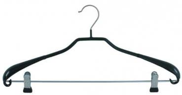 25 x Metall-Kleiderb/ügel Klemmb/ügel 40 cm XL rutschhemmend beschichtet